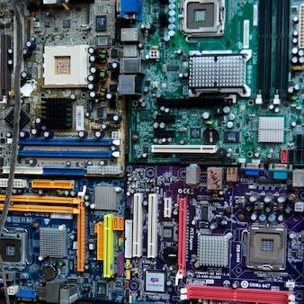 Nahaufnahme einer elektronischen leiterplatte, utila, schacht-inseln, honduras