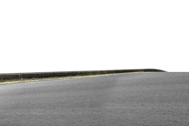 Nahaufnahme einer straße isoliert auf weißem hintergrund