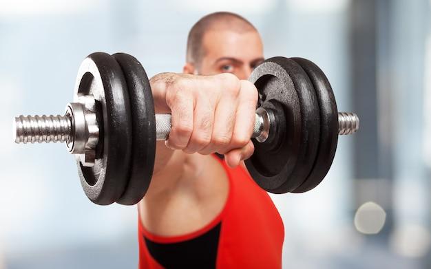 Nahaufnahme eines bodybuilders ausarbeiten