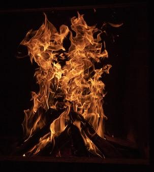 Nahaufnahme eines freudenfeuers