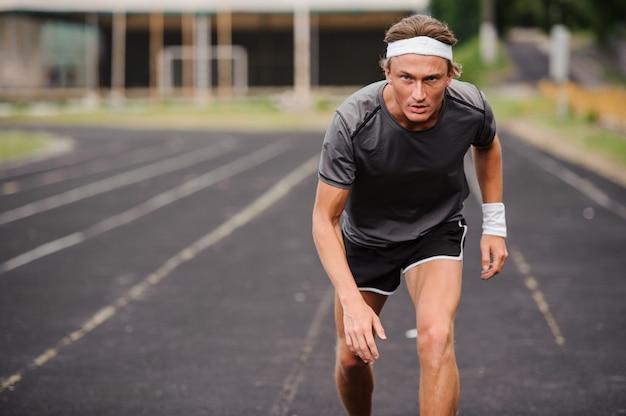 Nahaufnahme eines jungen läufers