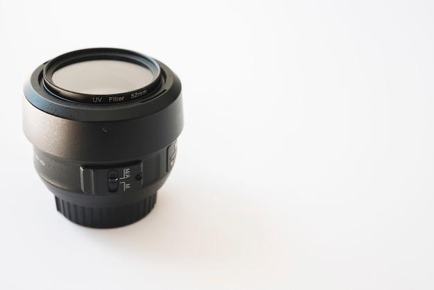 Nahaufnahme eines modernen kameraobjektivs