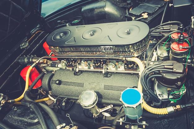 Nahaufnahme eines vintage-motors