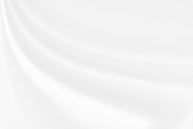 Nahaufnahme elegant zerknittert von der weißen seidengewebestoffbeschaffenheit