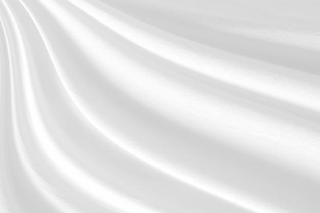 Nahaufnahme elegant zerknittert von weißem seidenstoff stoff und textur.