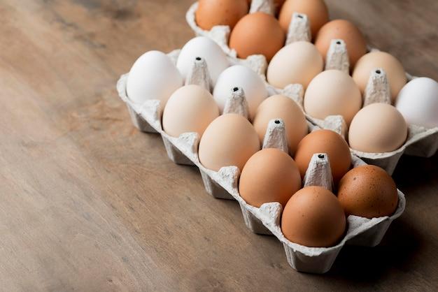 Nahaufnahme frische hühnereier Kostenlose Fotos