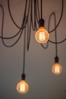 Nahaufnahme glühbirnen