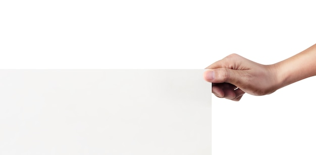 Nahaufnahme hand, die papierrohling für briefpapier hält