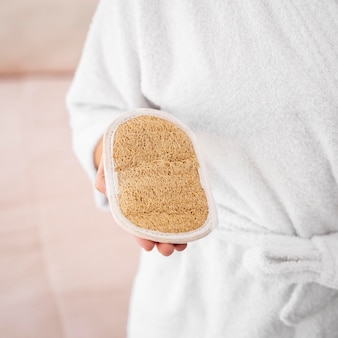Nahaufnahme handhaltebürste