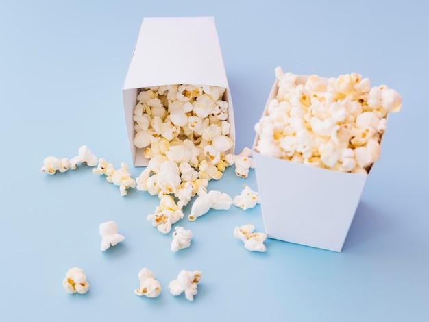 Nahaufnahme köstliche popcornboxen