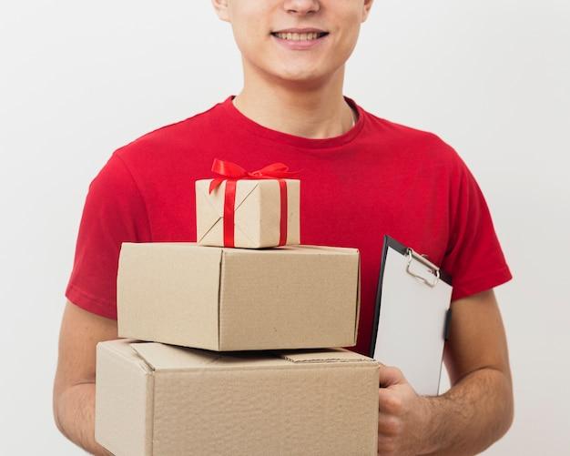 Nahaufnahme-lieferpakete