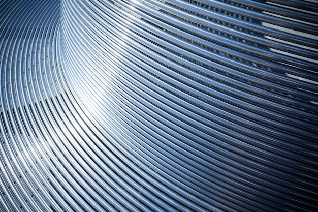 Nahaufnahme metallrohre parallel angeordnet
