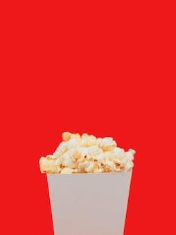 Nahaufnahme popcorn-box mit kopierraum