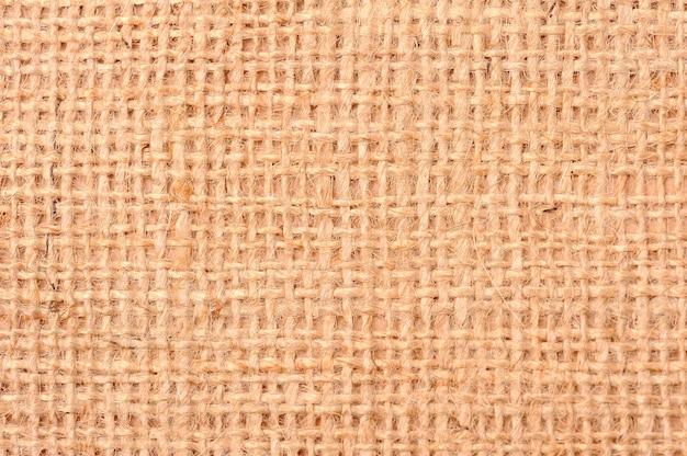 Nahaufnahme sackleinen textur hintergrund
