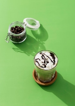 Nahaufnahme schokoladenmilchshake