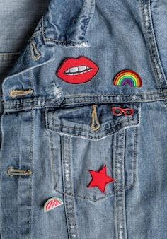 Nahaufnahme stilvolle jeansjacke