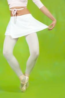 Nahaufnahme von ballerinas beine