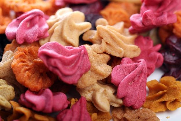 Nahaufnahme von bunten bonbons