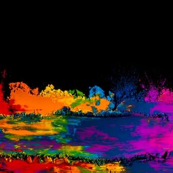 Nahaufnahme von bunten gemischten holi farben