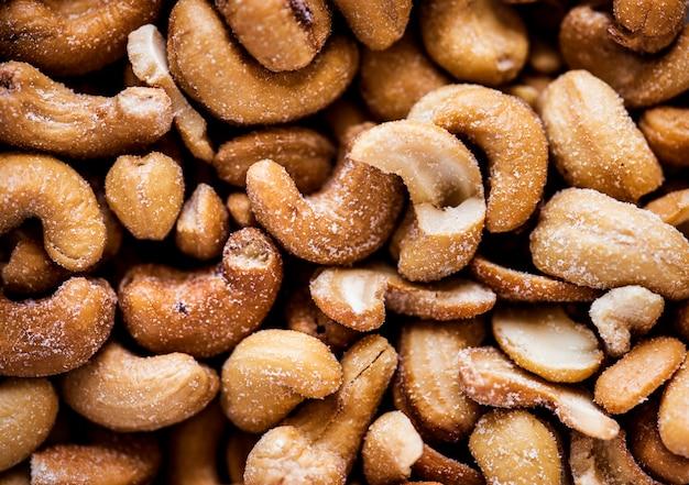 Nahaufnahme von cashew-nüssen