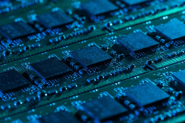 Nahaufnahme von computerteilen