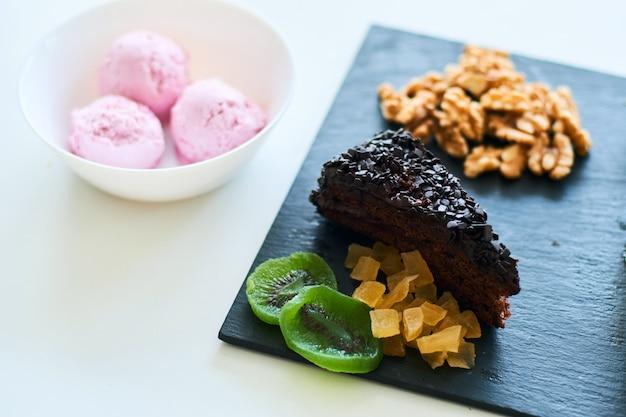 Nahaufnahme von desserts