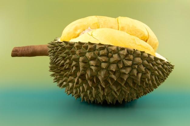 Nahaufnahme von durianfrüchten, könig der früchte