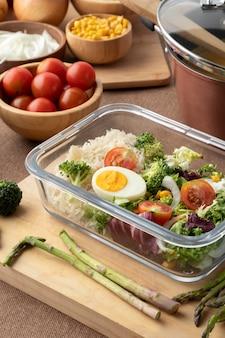 Nahaufnahme von ernährung und essensplanung