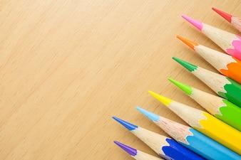 Nahaufnahme von Farbstiften
