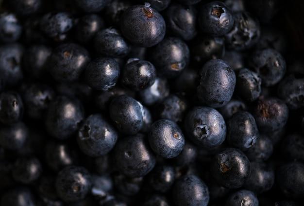 Nahaufnahme von frischen organischen blaubeeren