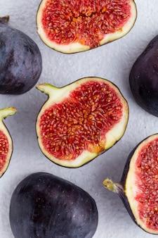 Nahaufnahme von geschnittenen feigenfrüchten