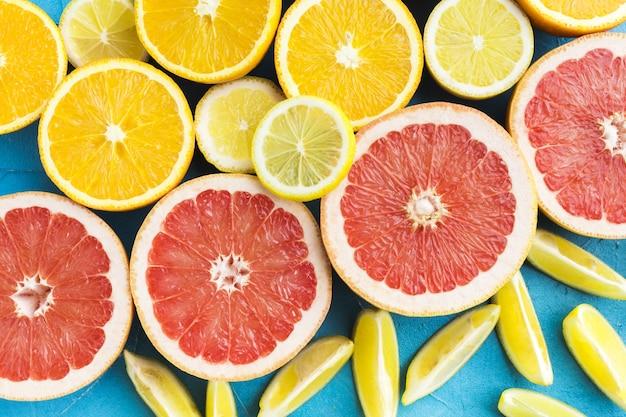 Nahaufnahme von gesunden zitrusfrüchten