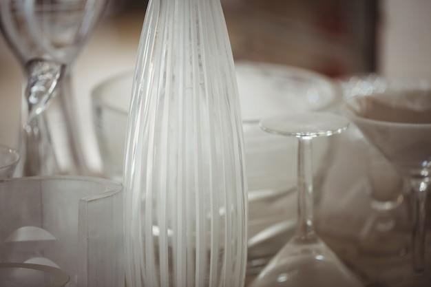 Nahaufnahme von glaswaren
