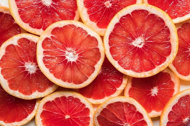 Nahaufnahme von grapefruitscheiben