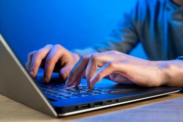 Nahaufnahme von hacker
