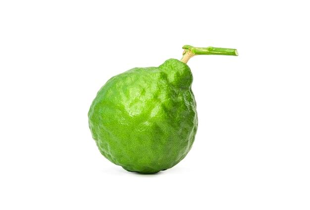 Nahaufnahme von isoliert von einer bergamotte frucht