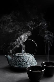 Nahaufnahme von köstlichem asiatischem tee