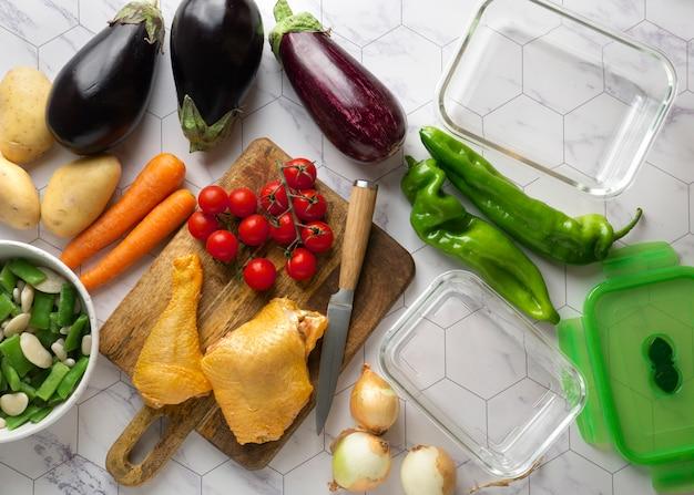 Nahaufnahme von leckeren mahlzeitenzubereitung