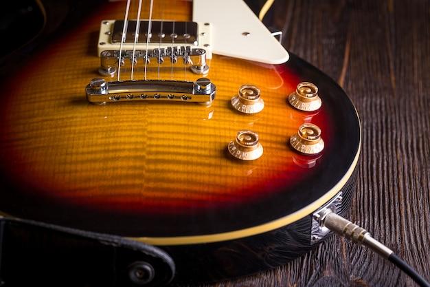Nahaufnahme von musik gitarre