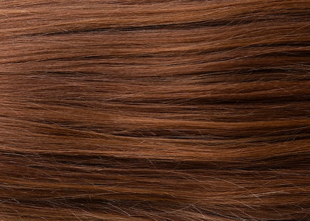 Nahaufnahme von natürlichen haarsträhnen