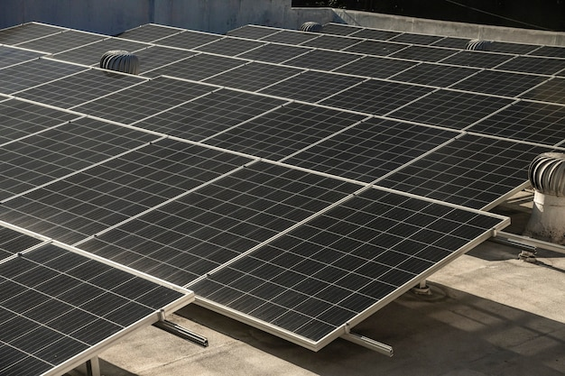 Nahaufnahme von photovoltaik-kraftwerken