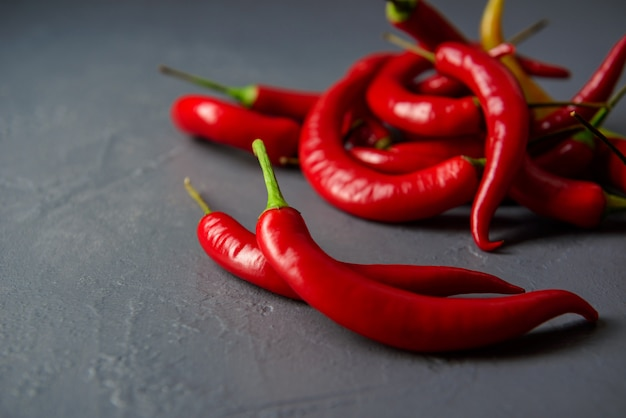Nahaufnahme von roten chilischoten
