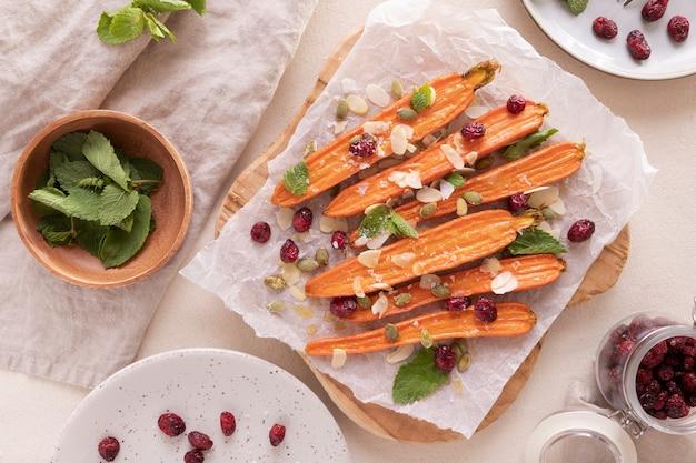 Nahaufnahme von snacks aus süßkartoffeln