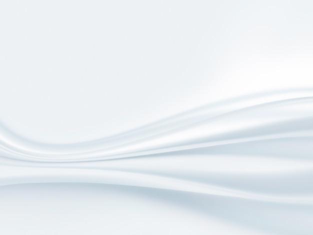 Nahaufnahme von weißem satinstoff als hintergrund