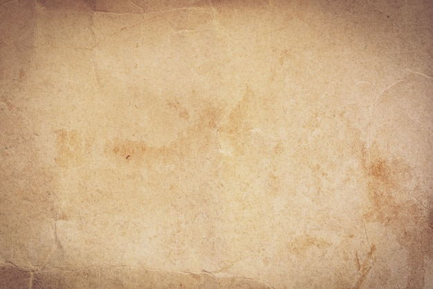 Nahaufnahme zerknitterte alte braune papierbeschaffenheit