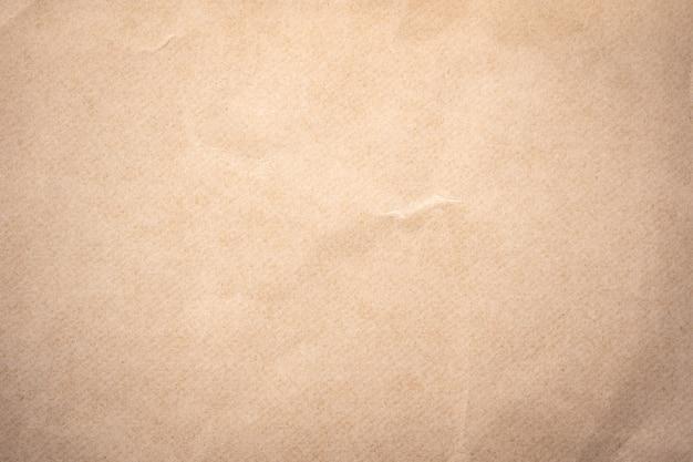 Nahaufnahme zerknittertes braunes papier textur und hintergrund mit kopierraum