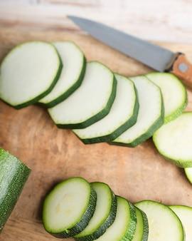 Nahaufnahme zur köstlichen zucchini