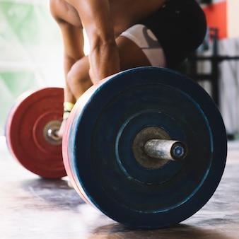 Nahaufnahmeansicht bodybuilding-konzept