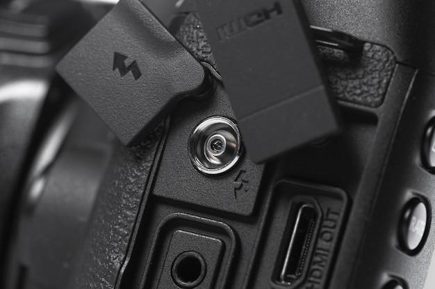 Nahaufnahmeansicht der digitalkamera