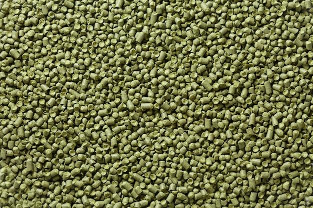 Nahaufnahmeansicht von granulathopfenhoffnungen. hintergrundbeschaffenheit.